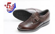 本革 ビジネスシューズ 革靴 紳士靴 5.5cmアップ モンクプレーン シークレットシューズ No.921 ブラウン