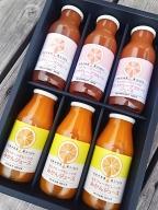 農園完熟果実絞り 国産(美浜町産)グレープフルーツ100%ジュース&温室みかんジュース 小瓶飲み比べセット◆