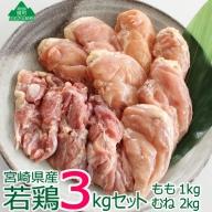 36-116_宮崎県産若鶏<3kg>セット