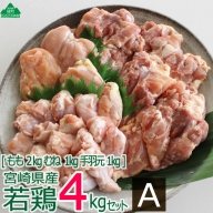 36-120_宮崎県産若鶏<4kg>セットA