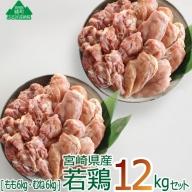 36-123_宮崎県産若鶏<12kg>セット