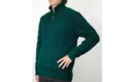 大江の職人の手動編みオーダーメイドカシミア100%紳士【柄入】ファスナー付セーター