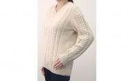 大江の職人の手動編みオーダーメイドカシミア100%婦人【柄入】Vセーター