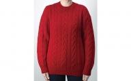 大江の職人の手動編みオーダーメイドカシミア100%婦人【柄入】丸首セーター
