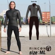 ウエットスーツ RINCON 5/3mm起毛  BACK-ZIP フルスーツ WINTER仕様 MLサイズ