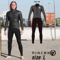 ウエットスーツ RINCON 5/3mm起毛  BACK-ZIP フルスーツ WINTER仕様 Lサイズ