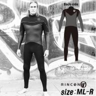 ウエットスーツ RINCON 5/3mm起毛  LONG-CHEST-ZIP フルスーツ WINTER仕様   ML-Rサイズ