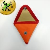 テント生地のコインケース【おにぎり】(オレンジ)<出荷時期:受注発注のため、申込後2.5か月前後で出荷>