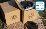 19-207C.【新型コロナ被害支援品】四万十市産 焚き比べセット黒炭10kg(樫5kg+雑5kg)