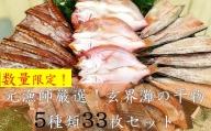【数量限定】元漁師が手掛ける厳選干物 5種盛セット 合計33枚!!