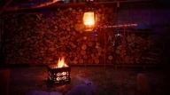 焚火台 ファイヤーピット(オルティガ)/アウトドアグッズ キャンプ用品 登山用品 ピクニック キャンパー