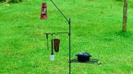 焚火用 ファイヤーフックスタンド(4点セット)/アウトドアグッズ キャンプ用品 登山用品 ピクニック キャンパー
