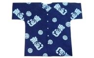 a18-012 夏 涼 祭り 焼津 魚がし シャツ 紺地×ブルー LL/3L