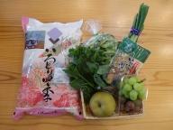 あきたこまち5kgと五城目の幸4~9品程度(野菜・果物・加工品)