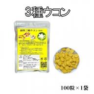W-3005/3種ウコン 20g(200mg×100粒)×1袋