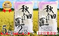 【 新米 】農家直送 8年連続「 特A 」ランク 秋田県 仙北市産米 令和 2年産 あきたこまち 5kg×2袋(合計:10kg)2020年12月から発送開始 予約