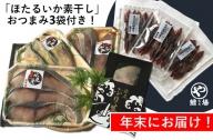 【年末お届け】氷見産ぶり!切身真空3種9切・ぶり生ハム(ほたるいか素干し3袋付き)