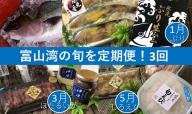 【3回定期便】富山湾の旬を食す!「氷見ぶり・白えび・ほたるいか」(1・3・5月発送)