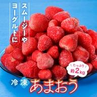 A211.【数量限定】冷凍あまおう(いちご)約1.8kg/2021年4月以降配送