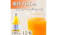 ※受付終了※ 果汁100%田村そだちみかんジュース 180ml×12本