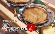 やわコリ食感紀州の蝦夷アワビ 【5個入】