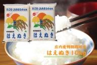 【081-015】庄内町余目産 特別栽培米はえぬき10kg