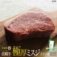 <宮崎牛極厚ミスジステーキ300g+塩>