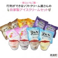 <自家製アイスクリームセット>
