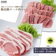 <高鍋町産 佐藤ファーム 絶品豚ロース肉セット合計1.2kg>