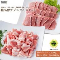 <高鍋町産 佐藤ファーム 絶品豚ウデスライスセット合計1.6kg>