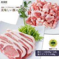 <高鍋町産 佐藤ファーム 美味しい豚ロース肉セット合計2kg>