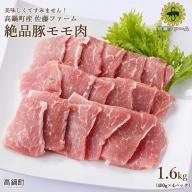 <高鍋町産 佐藤ファーム 絶品豚モモ肉1.6kg>