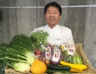 A-168 旬のかほくイタリア野菜料理食事券(奥田政行シェフのお店)サービス券付
