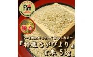 CI083 【令和元年度産】有機肥料を使って栽培した≪特選さがびより≫みやき町産【玄米5kg】