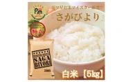CI041 さがびより白米5kg 【五つ星お米マイスター厳選!】