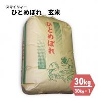 【令和3年産新米・早期予約・10月中旬より発送予定】 ひとめぼれ 玄米30kg(30kg×1袋) 秋田県能代産