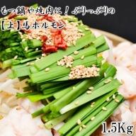 鍋や煮込み料理に!ぷりっぷりの【上】馬ホルモン1.5kg(500g×3)