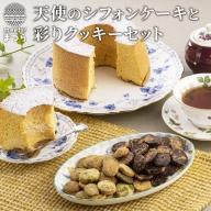 【A6-006】天使のシフォンケーキと彩りクッキーセット