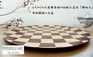 【期間限定企画★掛川茶付き】丸盆 市松《伝統工芸品》