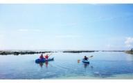 「自然体験学校」八重瀬町玻名城の郷ビーチでシーカヤック体験(ペアチケット)
