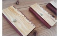 [グレイン]琉球松と革で作ったキーケース