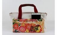 「琉球帆布」【レザーRYUKAバタフライ】バッグインバッグ