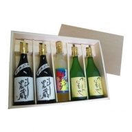 【B2-012】焼酎リキュールセットT2T2P(麦、芋、リキュール)5本セット
