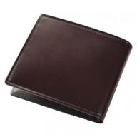 SOMES HV-02 2つ折財布(ダークブラウン)