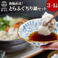 【C0-036】漁協直送!とらふぐちり鍋セット3~4人前