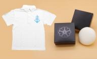 オリジナル ポロシャツ(ホワイト)とツクシイバラの香り 石けん 2個セット