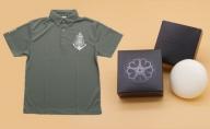 オリジナル ポロシャツ(グレー)とツクシイバラの香り 石けん 2個セット
