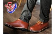 ビブラムソール(vibram ヴィブラム) ワークブーツ 本革 幅広 4E ワイド マウンテンブーツ メンズ 5.5cmヒールアップブーツ No.wk1563 ブラウン
