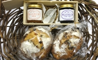 【新型コロナ被害支援】天然酵母カンパーニュ2点・ブルーベリーのジャム・季節のジャム・プレートセット