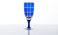 藍 和イングラス 高麗屋格子